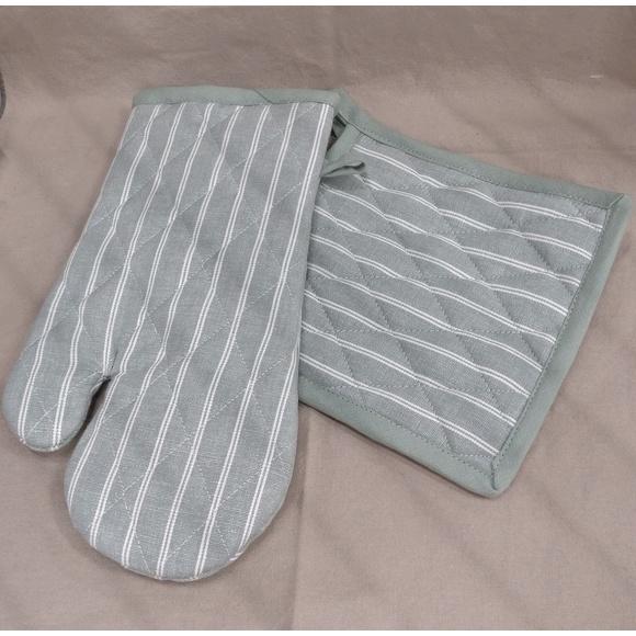 Presina da forno in cotone grigio