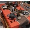 Tovaglia rettangolare antimacchia arancione cotone 150x250cm