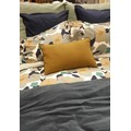 Cuscino rettangolare in lino giallo 40x60cm