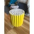 Table petits rondins en bois jaune d30xh30cm
