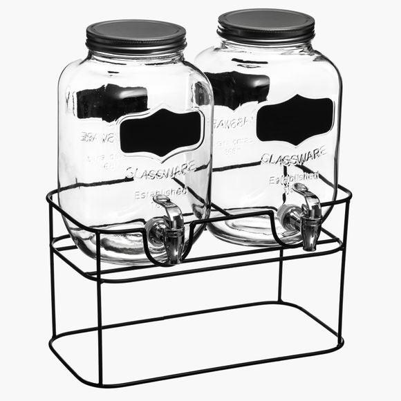 Fontaine à boisson 2x 4L avec support