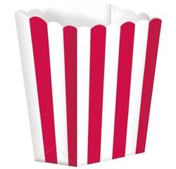 Achat en ligne Set de 5 boites à pop corn en papier à rayures