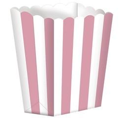 Achat en ligne Set de 5 boites à pop-corn à rayures