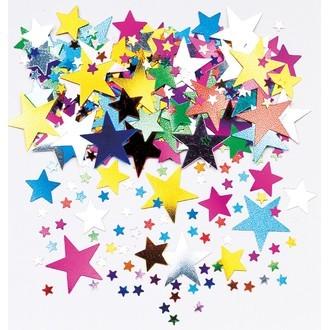 Confetti étoile multicolore métalisés 14g