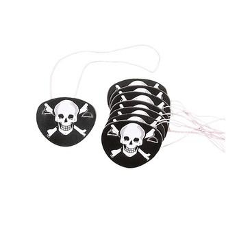 Set de 12 bandeaux de pirate en carton avec élastique
