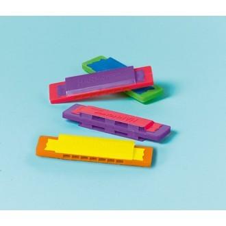 Set de 12 mini-harmonicas en plastique