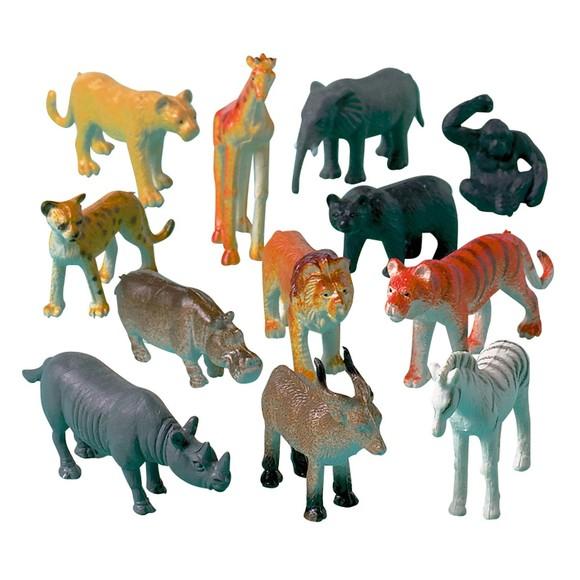 Achat en ligne Set de 12 animaux de la jungle en plastique