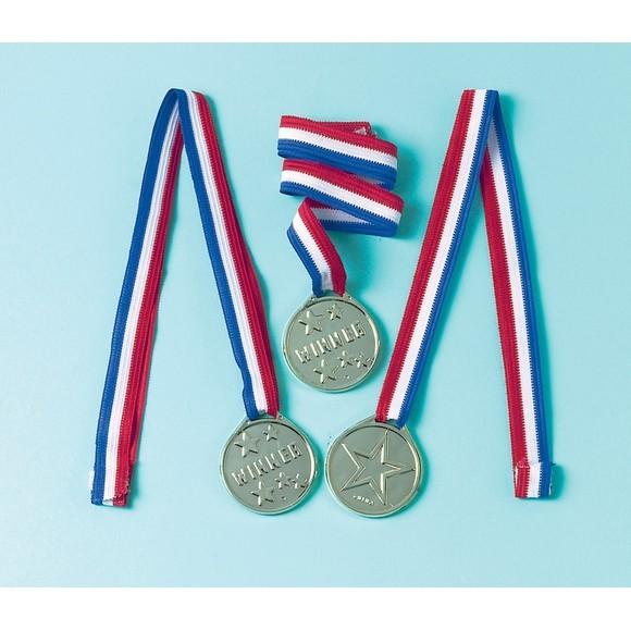 Achat en ligne Set de 12 médailles en plastique