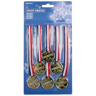 Set de 6 médailles