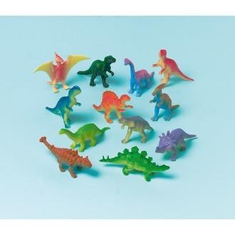 Set de 12 figurines de dinosaures en plastique