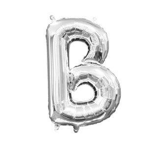 Ballon à gonfler argent lettre B
