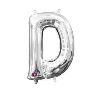 Ballon à gonfler argent lettre D
