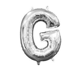 Ballon à gonfler argent lettre G