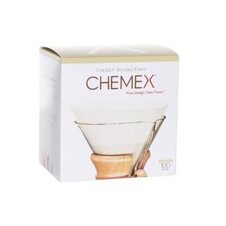 CHEMEX - 100 filtres à café ronds prepliés