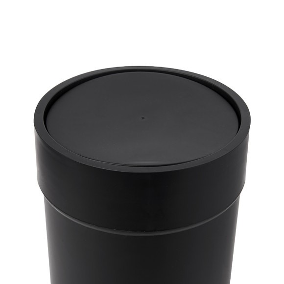 Poubelle à bascule soft touch noir