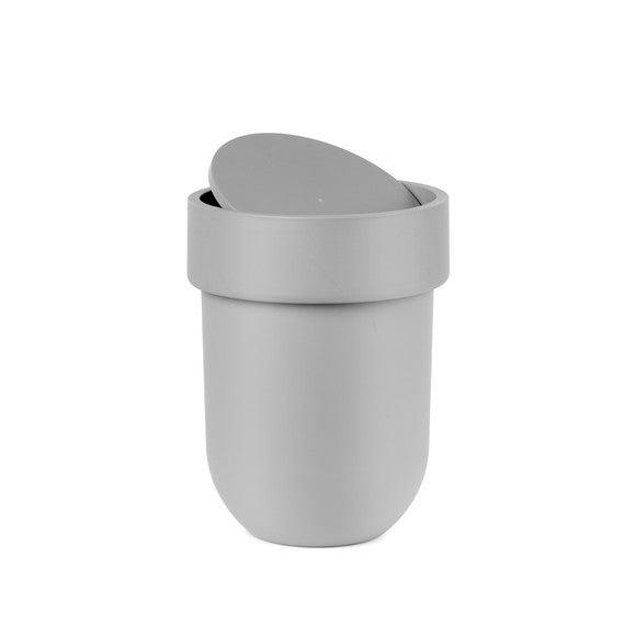 Achat en ligne Poubelle salle de bain soft touch à ouverture bascule taupe
