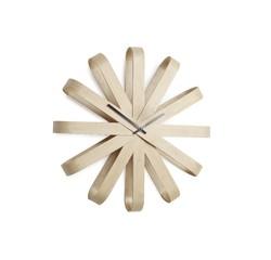 Achat en ligne Horloge murale Ribbonwood en bois clair Ø30cm