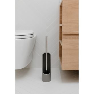 Balai wc en plastique gris