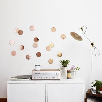 UMBRA - Set de 16 confettis ronds en cuivre Ø7cm