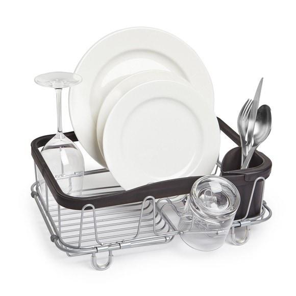 Egouttoir à vaisselle multi-usage noir et nickel