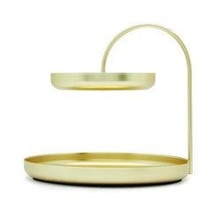 Achat en ligne Porte bijoux double plateau en métal doré Poise 20x18cm