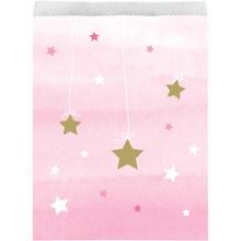 Achat en ligne 10 sacs à bonbon étoiles roses