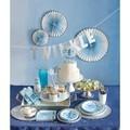 8 invitations étoiles bleus baby shower