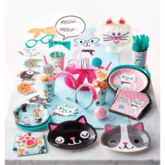 8 Assiettes Chats