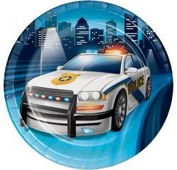 Achat en ligne 8 Assiettes voiture de police