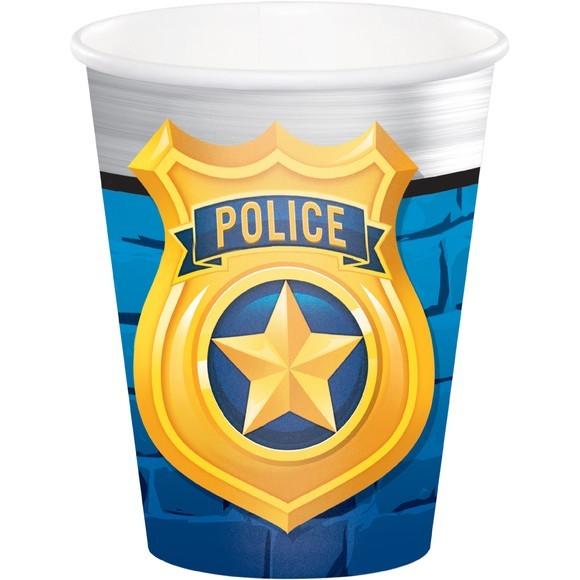 8 gobelets Police