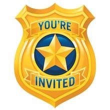 Achat en ligne 8 Cartes invitations Police avec enveloppes
