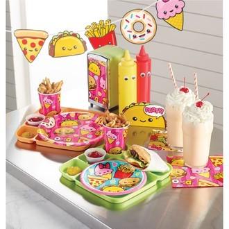 Serviettes Fast food happy birthday