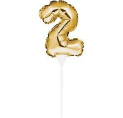 Achat en ligne Décor à piquer ballon chiffre 2 doré