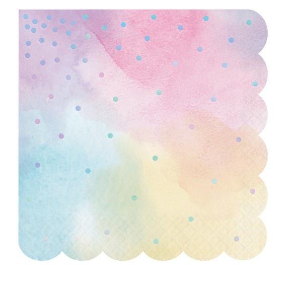 Achat en ligne Serviettes Iridescentes pastel