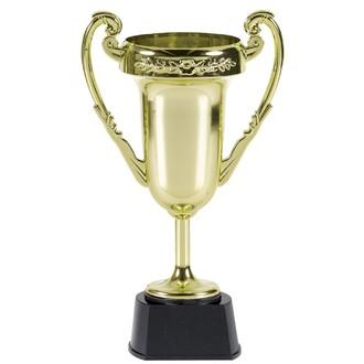 Grand trophée en plastique or