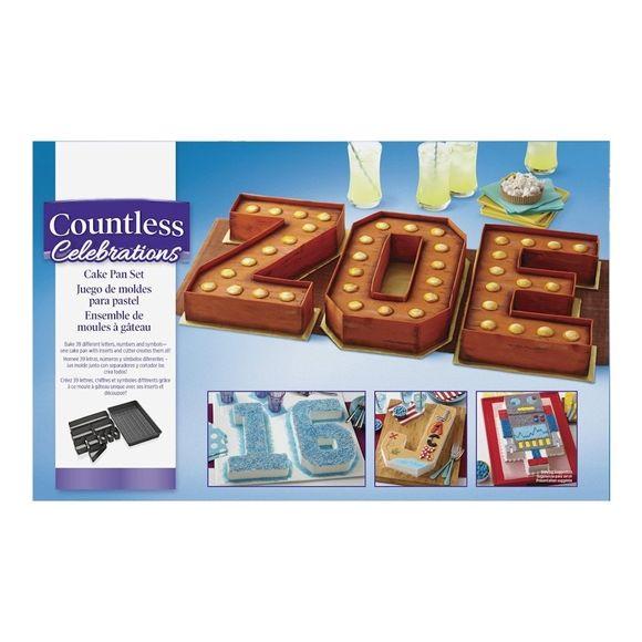 Kit 10 elementi torta numeri/lettere