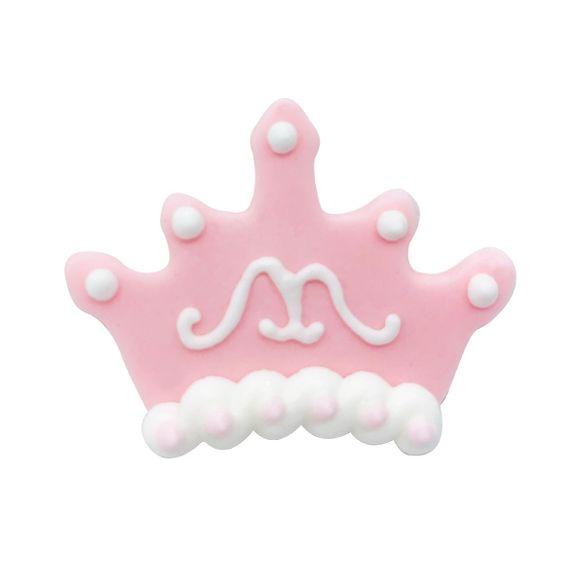Emporte-pièce couronne rose en métal revêtu 9cm