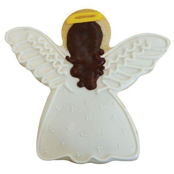 acquista online Tagliabiscotti angelo bianco in metallo rivestito da 8,5 cm