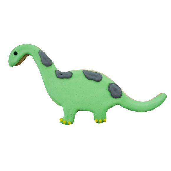 Emporte-pièce dinosaure violet en métal revêtu 15cm