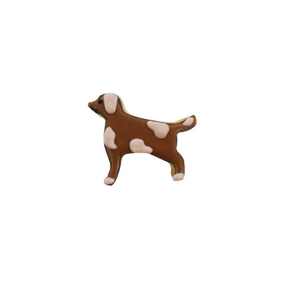 Mini tagliapasta a forme di cane marrone