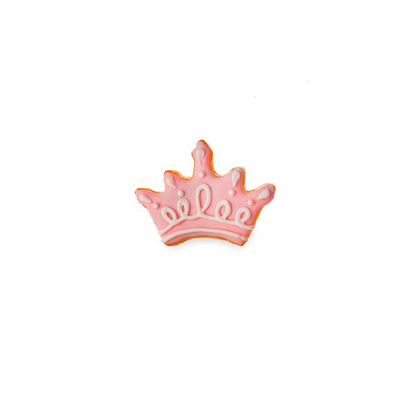 Mini formina corona rosa
