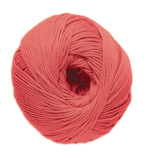 Pelote de laine pure coton corail natura 50g