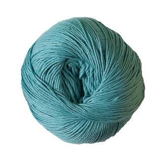Pelote de laine pure coton bleu aqua natura 50g