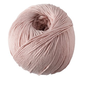 Pelote de laine pure coton rose lobélia natura 50g