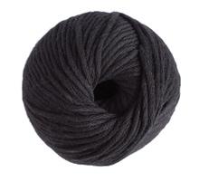 Achat en ligne Pelote de laine pure coton noir natura 100g