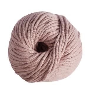 Pelote de laine pure coton rose poivre natura 100g