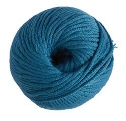 Achat en ligne Pelote de laine pure coton bleu canard natura 100g