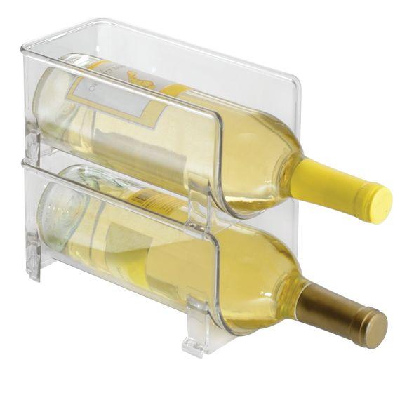 Bac rangement frigo 1 bouteille acrylique 10,3x10x20,5cm