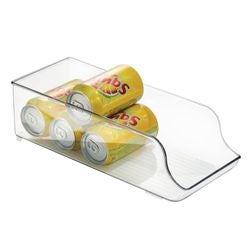 acquista online Porta lattine trasparente in plastica 14x35x10cm