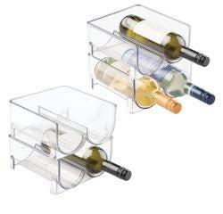 compra en línea Cajón de 2 botellas para nevera acrílico Interdesign (21 x 10 cm)